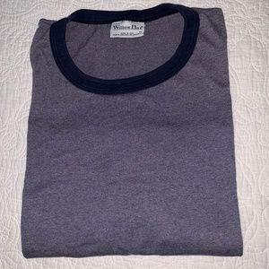 WILLOW BAY Solid Gray Short Sleeve Basic T Shirt